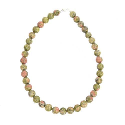 Unakite Necklace - 12 mm Bead