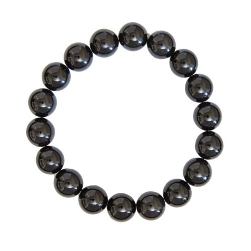 Black Agate Bracelet - 10 mm Bead