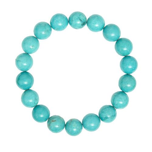 Turquoise Bracelet - 10 mm Bead