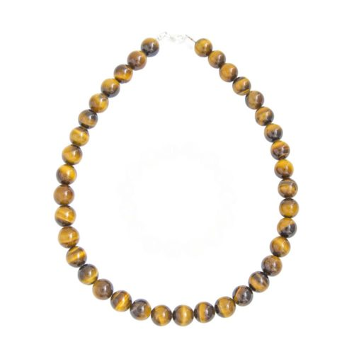 Tiger's Eye Necklace - 12 mm Bead