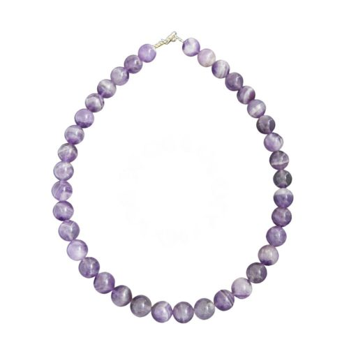 Amethyst Necklace - 12 mm Bead