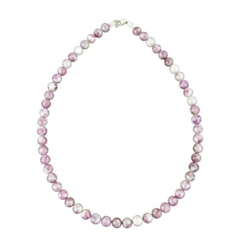 Pink Tourmaline Necklace - 8 mm Bead