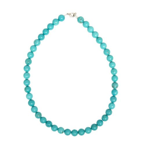 Turquoise Necklace - 10 mm Bead