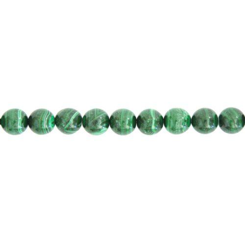 Malachite Line - 10 mm Bead