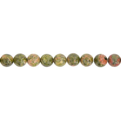 Unakite Line - 10 mm Bead