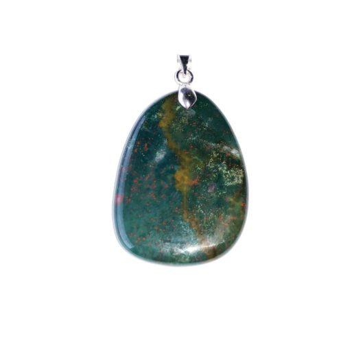 Heliotrope Jasper Pendant - Flat Stone