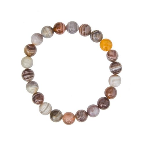 Botswana Agate Bracelet - 8 mm Bead