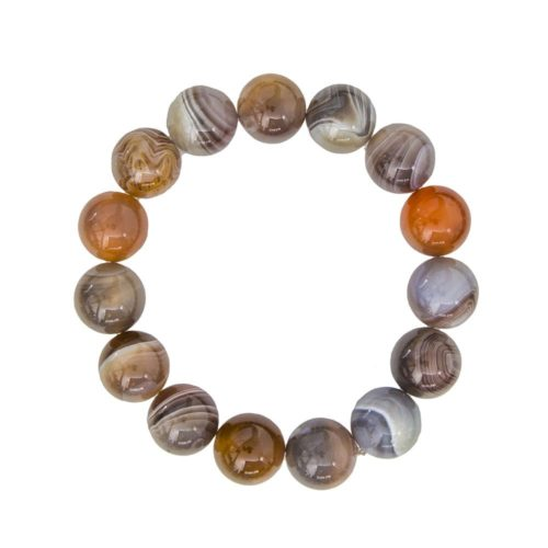 Botswana Agate Bracelet - 12 mm Bead