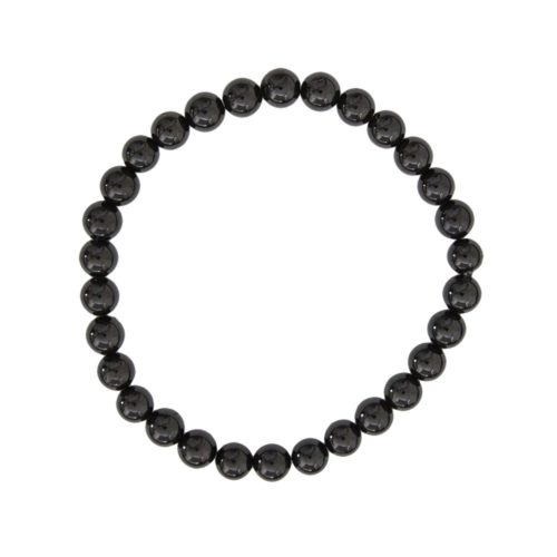Black Agate Bracelet - 6 mm Bead