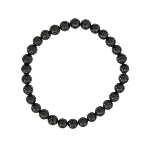 Black Agate Bracelet - 6 mm Bead