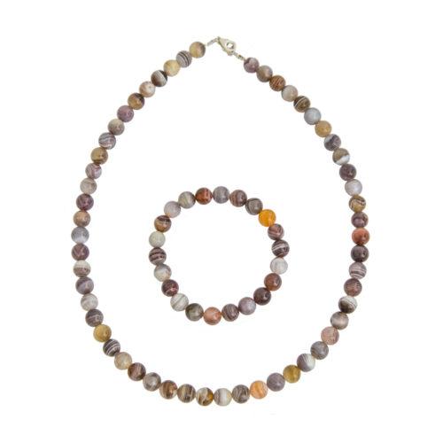 Botswana Agate Gift Set - 8 mm Bead