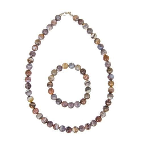 Botswana Agate Gift Set - 10 mm Bead