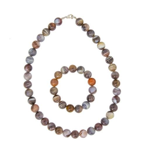 Botswana Agate Gift Set - 12 mm Bead