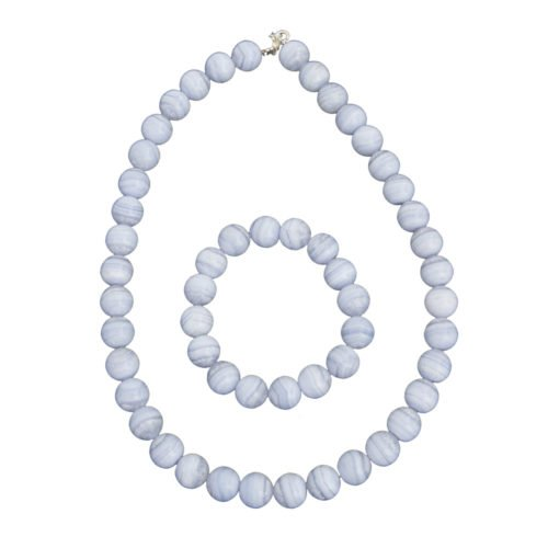 Chalcedony Gift Set - 12 mm Bead