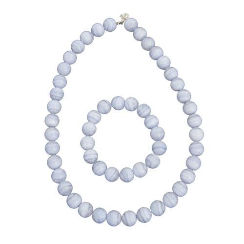 Chalcedony Gift Set - 12 mm Bead