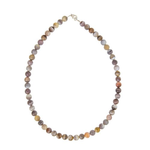 Botswana Agate Necklace - 8 mm Bead