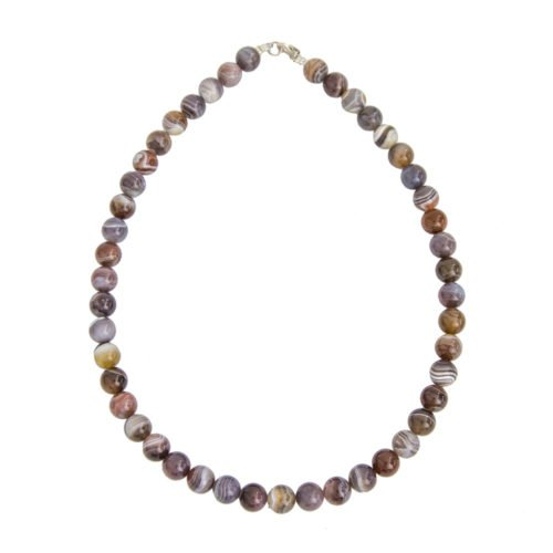 Botswana Agate Necklace - 10 mm Bead