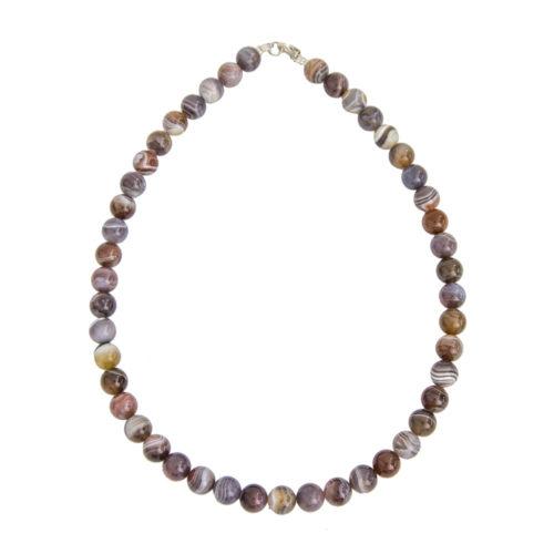 Botswana Agate Necklace - 10 mm Bead