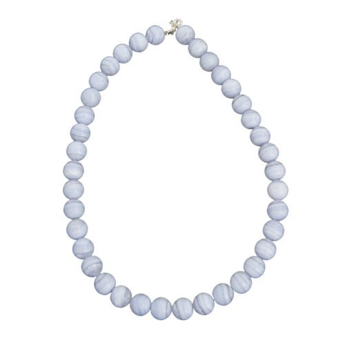 Chalcedony Necklace - 12 mm Bead