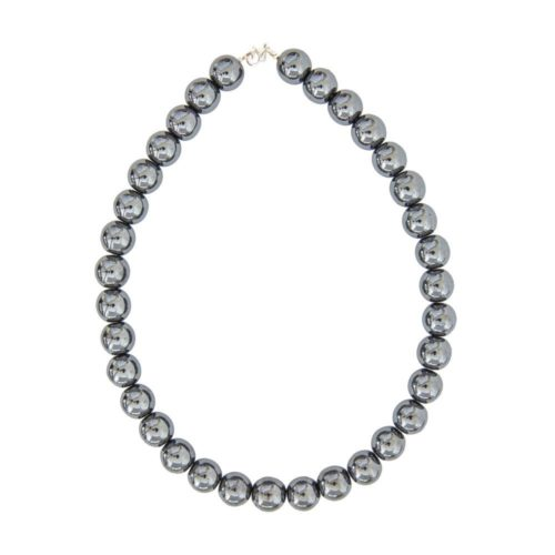 Haematite Necklace - 14 mm Bead