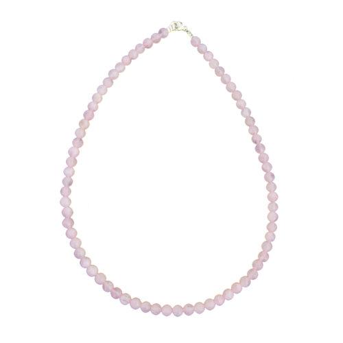 Rose Quartz Necklace - 6 mm Bead