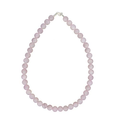 Rose Quartz Necklace - 10 mm Bead