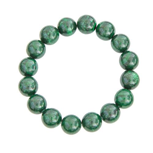 Malachite Bracelet - 12 mm Bead