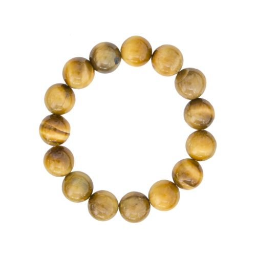Golden Tiger's Eye Bracelet - 12 mm Bead