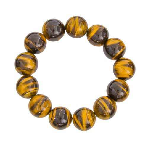 Tiger's Eye Bracelet - 14 mm Bead