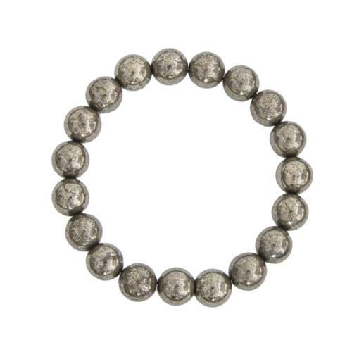 Iron Pyrite Bracelet - 10 mm Bead