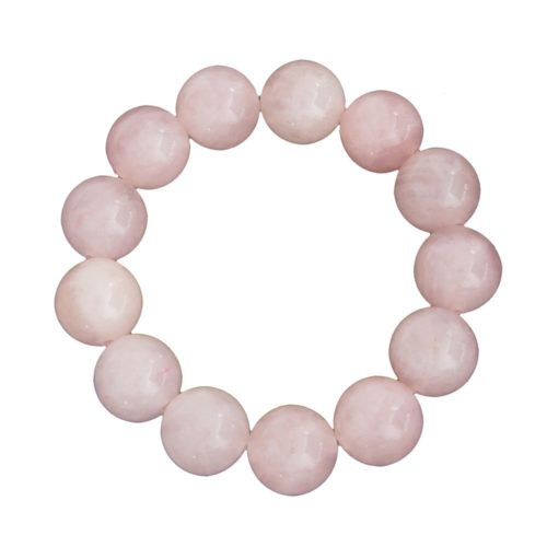 Rose Quartz Bracelet - 14 mm Bead