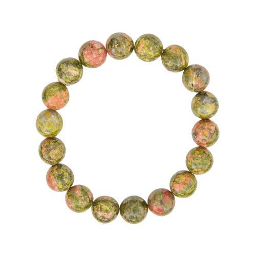 Unakite Bracelet - 10 mm Bead
