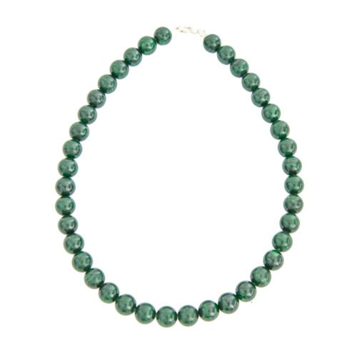 Malachite Necklace - 12 mm Bead