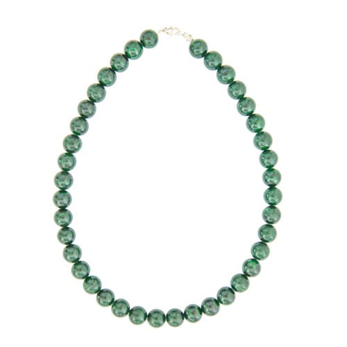Malachite Necklace - 12 mm Bead