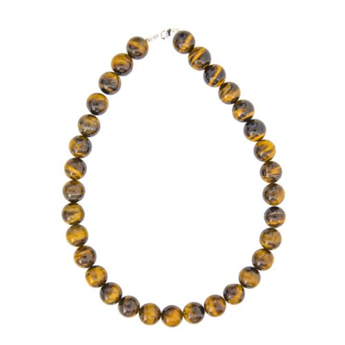 Tiger's Eye Necklace - 14 mm Bead