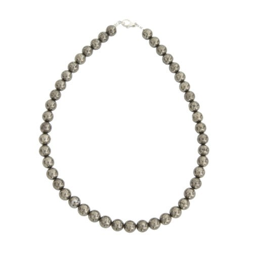 Iron Pyrite Necklace - 10 mm Bead