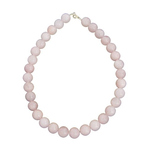 Rose Quartz Necklace - 14 mm Bead