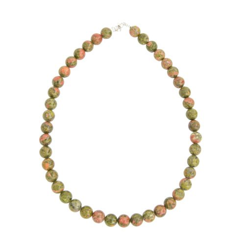 Unakite Necklace - 10 mm Bead