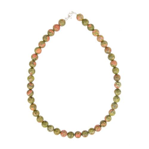 Unakite Necklace - 10 mm Bead