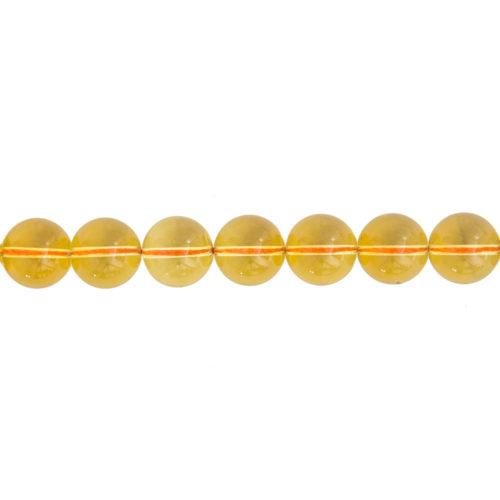 fil citrine pierres boules 14mm