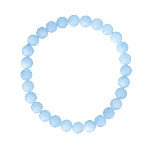 Aquamarine Bracelet - 6 mm Bead