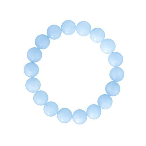 Aquamarine Bracelet - 10 mm Bead