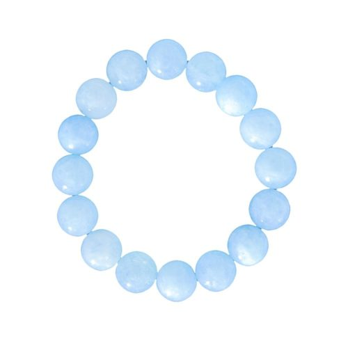 Aquamarine Bracelet - 12 mm Bead
