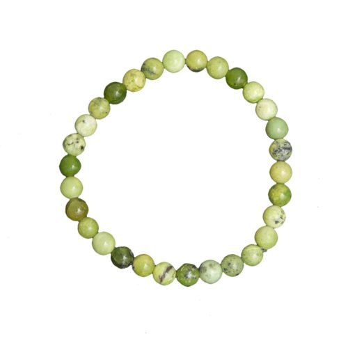 Lemon Chrysoprase Bracelet - 6 mm Bead