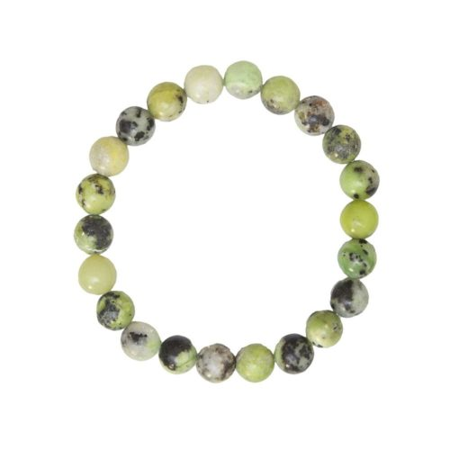Lemon Chrysoprase Bracelet - 8 mm Bead