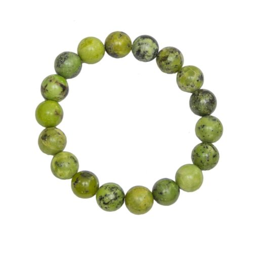 Lemon Chrysoprase Bracelet - 10 mm Bead