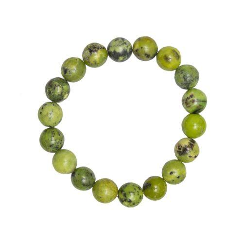 Lemon Chrysoprase Bracelet - 10 mm Bead