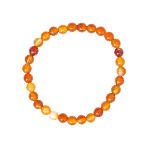 Carnelian Bracelet - 6 mm Bead
