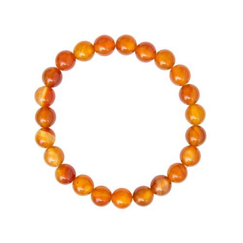 Carnelian Bracelet - 8 mm Bead