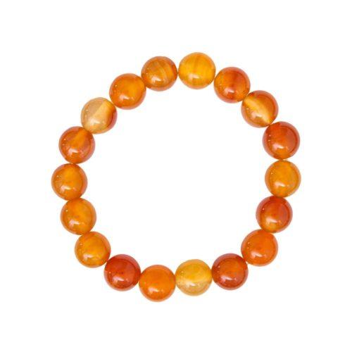 Carnelian Bracelet - 10 mm Bead